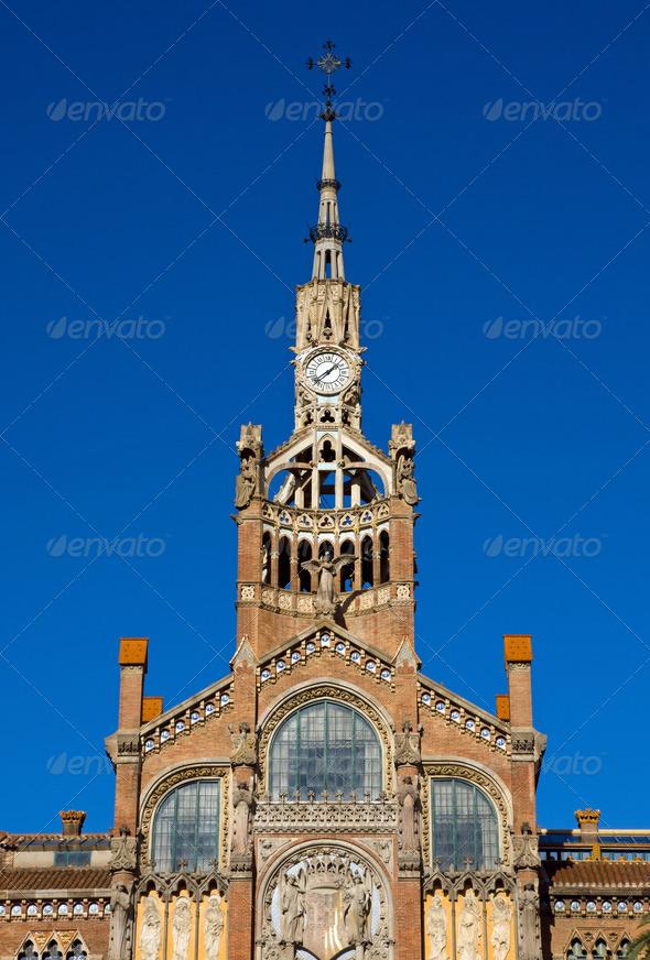 Hospital de la Santa Creu in Barcelona - Stock Photo - Images