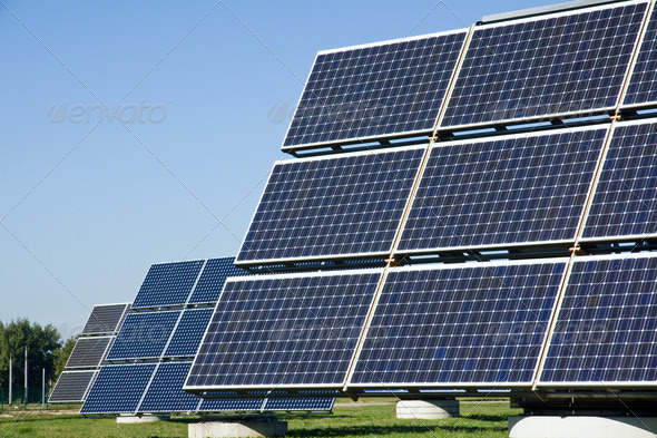 Solar energy panels - Stock Photo - Images