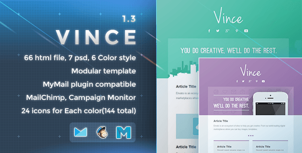 Vince – Responsive Email Template