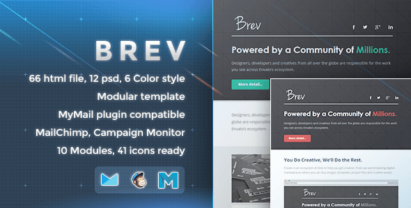 Brev - Responsive Email Template - Newsletters Email Templates