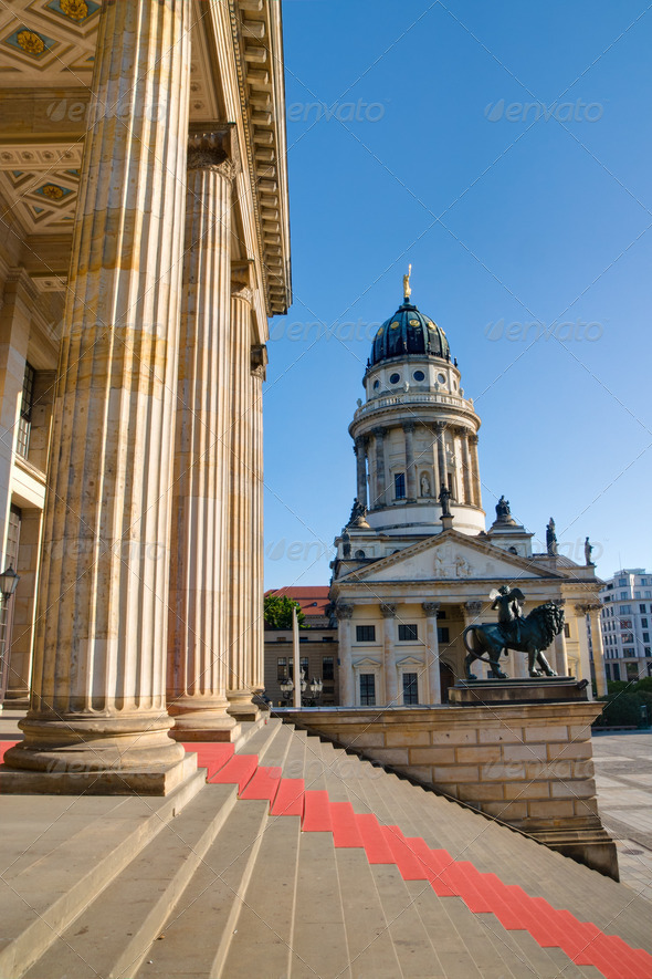 Columns at the Gendarmenmarkt - Stock Photo - Images