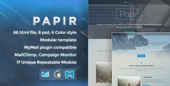Papir – Responsive Email Template