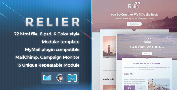 Relier – Responsive Email Template