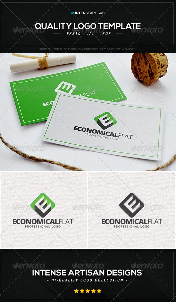 Economical Flat Logo Template - Letters Logo Templates