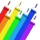 Rainbow Roller Brush - GraphicRiver Item for Sale