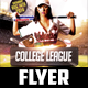 College League Flyer Template - GraphicRiver Item for Sale