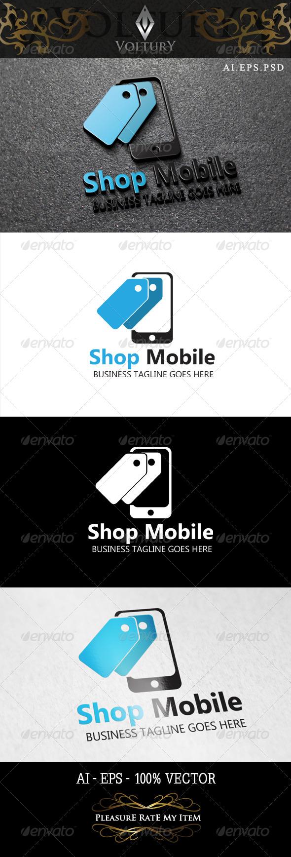 Shop Mobile Logo - Symbols Logo Templates