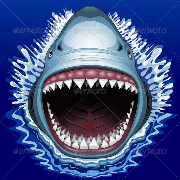 shark jaws attackbluedarkat | graphicriver, Modern powerpoint