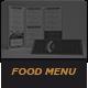 Elegant Food Menu 5 - GraphicRiver Item for Sale