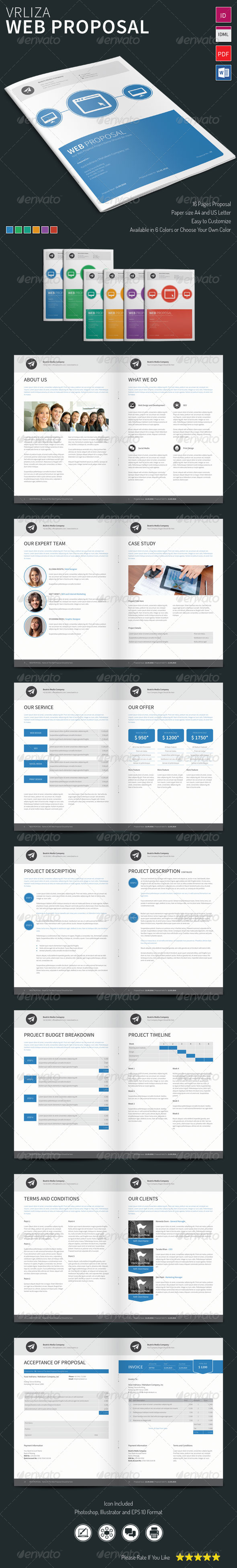 Vrliza - Web Proposal Template - Proposals & Invoices Stationery