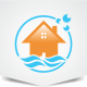 Water House Logo - GraphicRiver Item for Sale