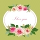 Floral Background with Vintage Label - GraphicRiver Item for Sale