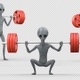 Alien Performing  Back Squats - VideoHive Item for Sale
