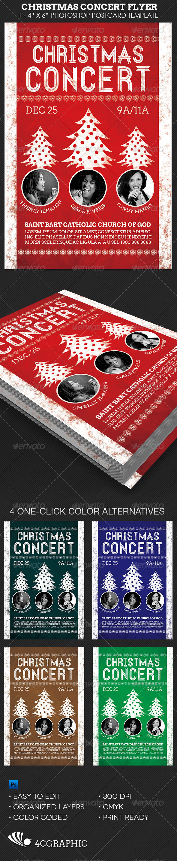 Christmas Concert Flyer Template - Concerts Events