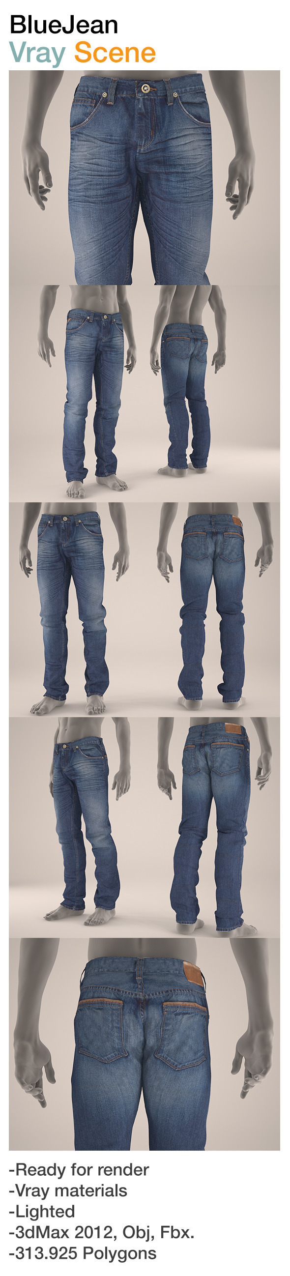 Blue Jean - 3DOcean Item for Sale