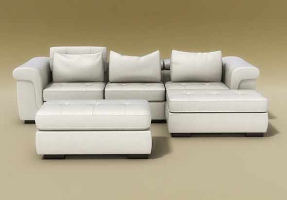 Domino II sofa model - 3DOcean Item for Sale