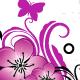 Black and pink floral frame - GraphicRiver Item for Sale