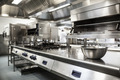 Work surface and kitchen equipment in professional kitchen - PhotoDune Item for Sale