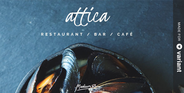 Attica – Restaurant Template with Page Builder
