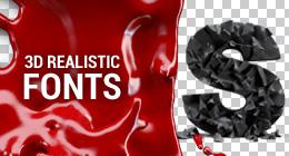 Realistic 3D Fonts
