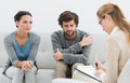 Young couple in meeting with a financial adviser at home - PhotoDune Item for Sale