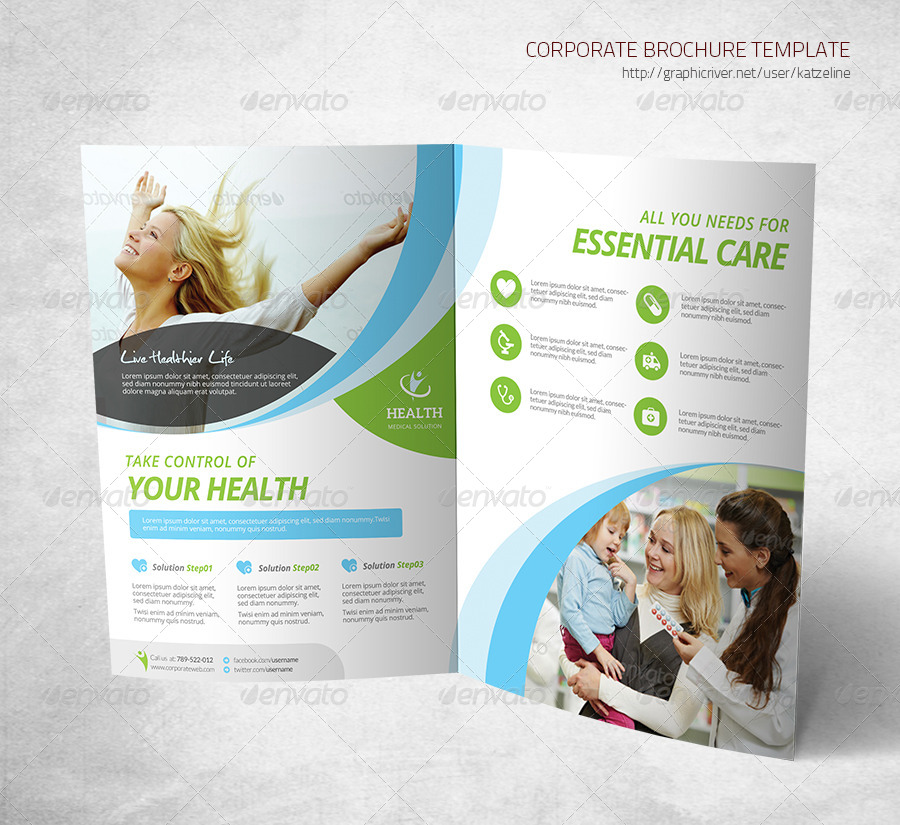 Medical Brochure Template: Bifold Brochure Template By
