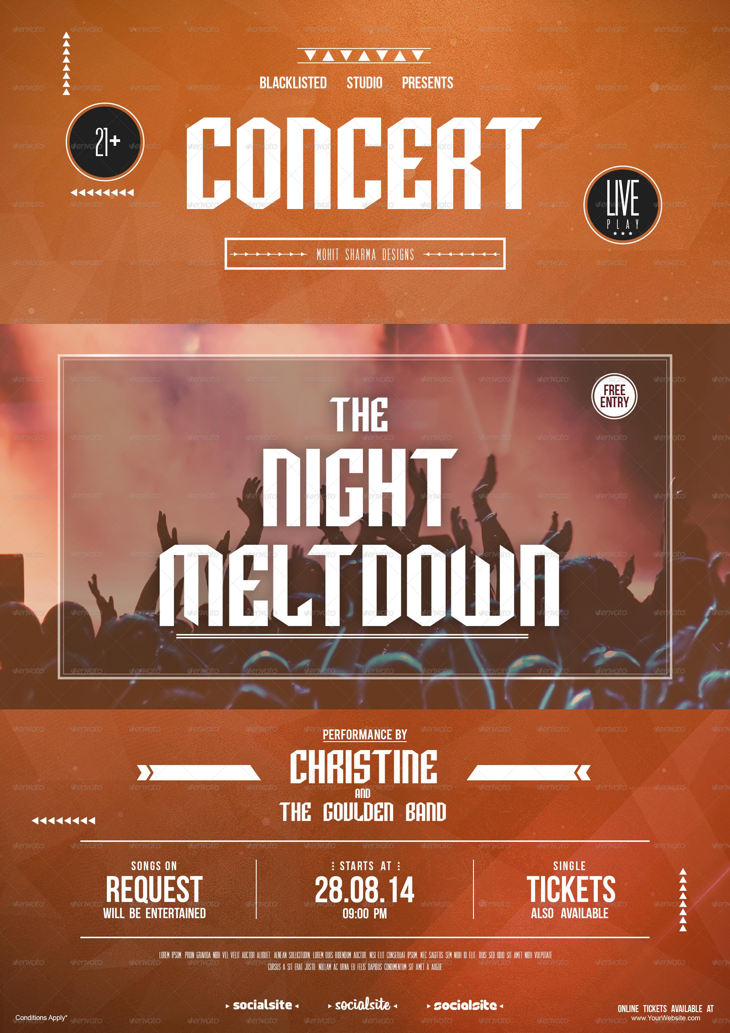 concert flyer by blacklistedstudio