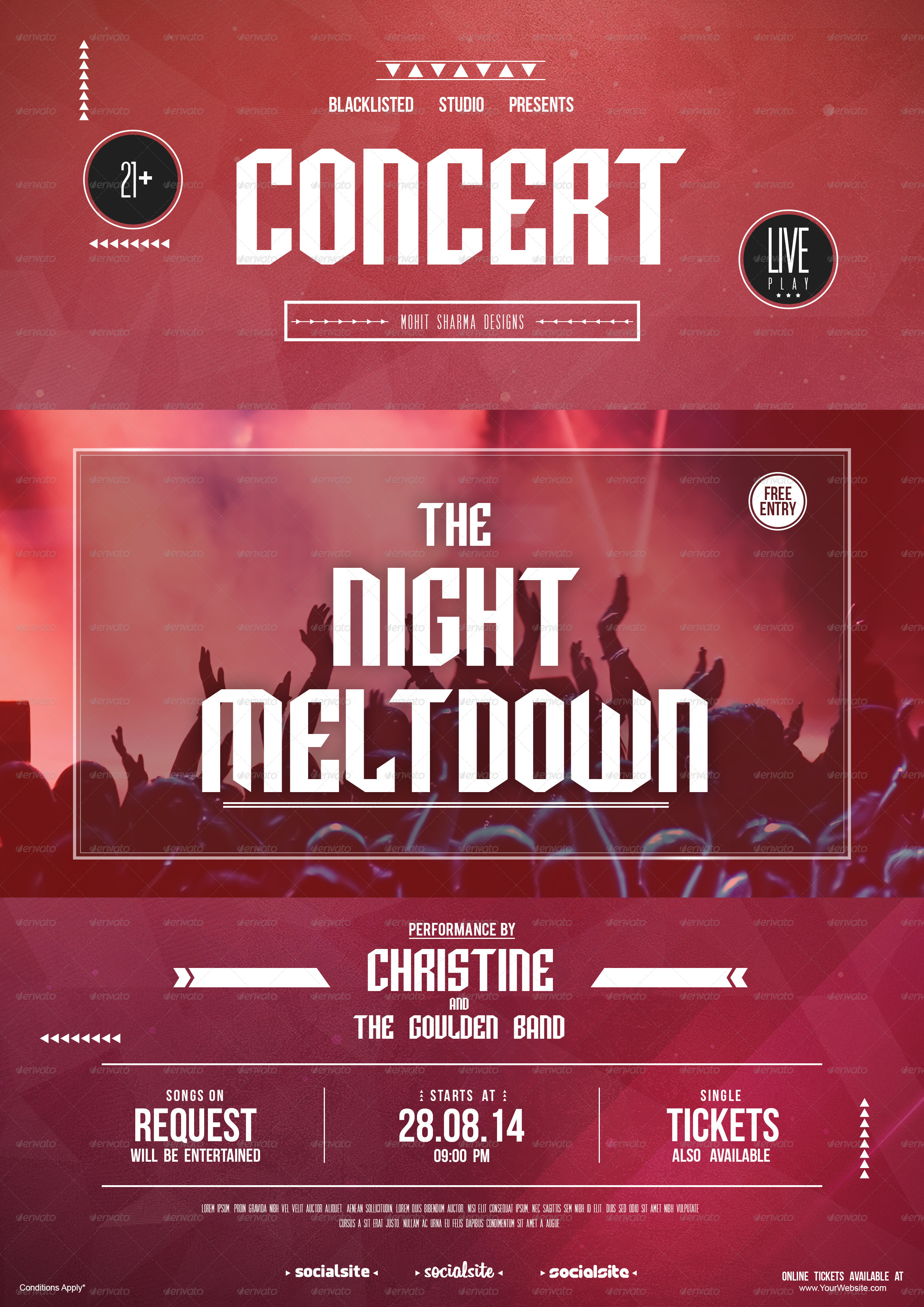 concert flyer by blacklistedstudio