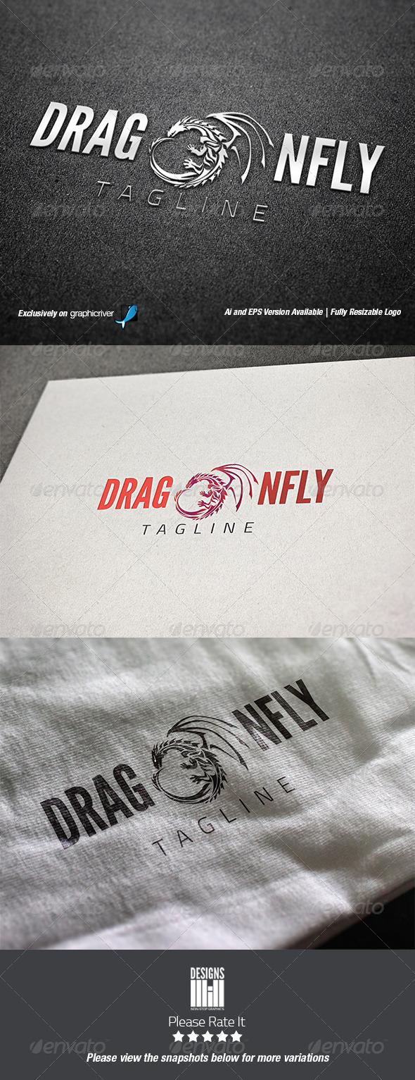 Dragon Fly Logo - Abstract Logo Templates