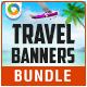 Travel Banner Set Bundle - 3 Sets - GraphicRiver Item for Sale