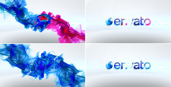 Colorful Particles Logo Reveal