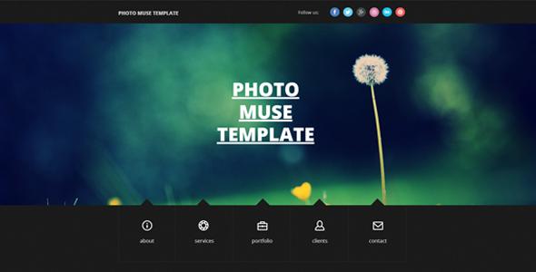 Photography Resume / Portfolio Muse Theme by Fadeink   ThemeForest