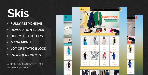 AM Skis – Multi Purpose Magento Theme