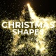 Christmas Particles Shapes Gold - VideoHive Item for Sale