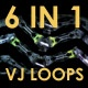 Cyber Machines VJ Loops 6 In 1 - VideoHive Item for Sale