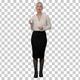 Pretty female businesswoman describing, Alpha Channel - VideoHive Item for Sale