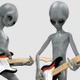 Alien Electric Guitar Player - VideoHive Item for Sale