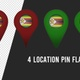 Zimbabwe Flag Location Pins Red And Green - VideoHive Item for Sale