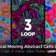 Optical Moving Abstract Cells Loop Pack
