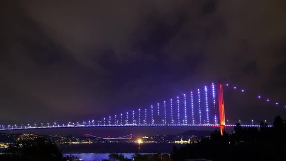VideoHive Bosphorus Bridge Night 20557774
