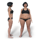 Weight Loss Gain   Asian Woman - VideoHive Item for Sale