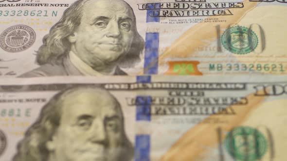 Us Dollars Close Up Business Banks