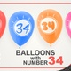 Balloons With Number 34 / Happy Thirty-Four Years Old - VideoHive Item for Sale