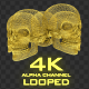 Gold Skull Structure 4K - VideoHive Item for Sale