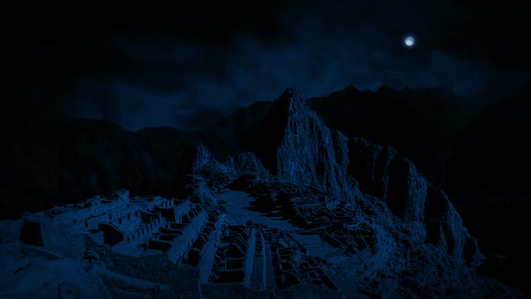 VideoHive Machu Picchu Ancient Ruins At Night 21244246