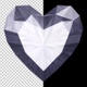 Diamond Heart - Transparent Loop - VideoHive Item for Sale