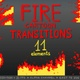 Fire Cartoon Transitions Pack - VideoHive Item for Sale