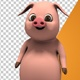 Small Cartoon Pig Looking At Something - VideoHive Item for Sale
