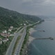 Aerial View Of Coast Road - VideoHive Item for Sale