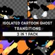 Isolated Cartoon Ghost Transitions Pack - VideoHive Item for Sale